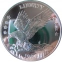 U.S.A - 1 Oz plata Double Eagle 1984.