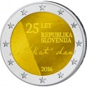 2€ Eslovenia 2016,  25 años de la Independencia.