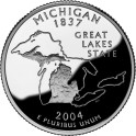 Usa, 1/4 dólar 2004 P Michigan