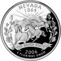Usa, 1/4 dólar 2006 D - Nevada.