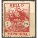 Sello Municipal 5 Ptas. Rojo.