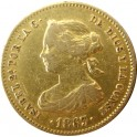 Isabel II, 40 Reales 1863  Madrid.