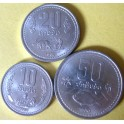 Laos, Set de 3 monedas (1980).