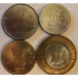 India, Set de 4 monedas 2011.