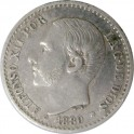 50 céntimos 1880, Alfonso XII