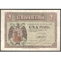 Billete de 1 Peseta, 30 de abril de 1938.